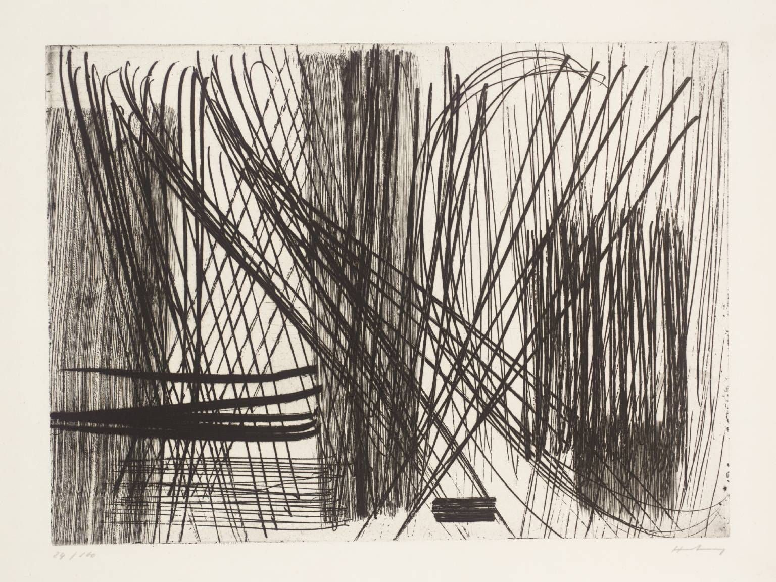 """24"" Etching on paper 1953"