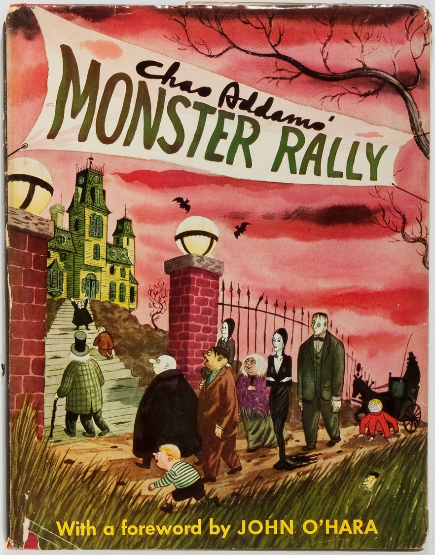 Monster Rally by Charles Addams, 1950. Featuring the Addams Family.