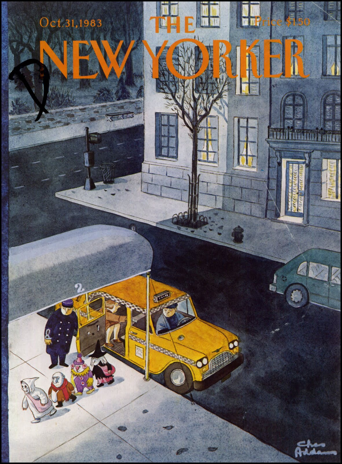 Charles Addams New Yorker, Oct. 31, 1983