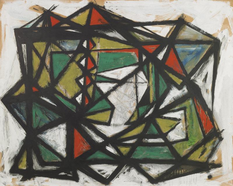 Untitled, 1949, Gouache on paper byWilliam Gear via  Anthony Hepworth Fine Art Dealer