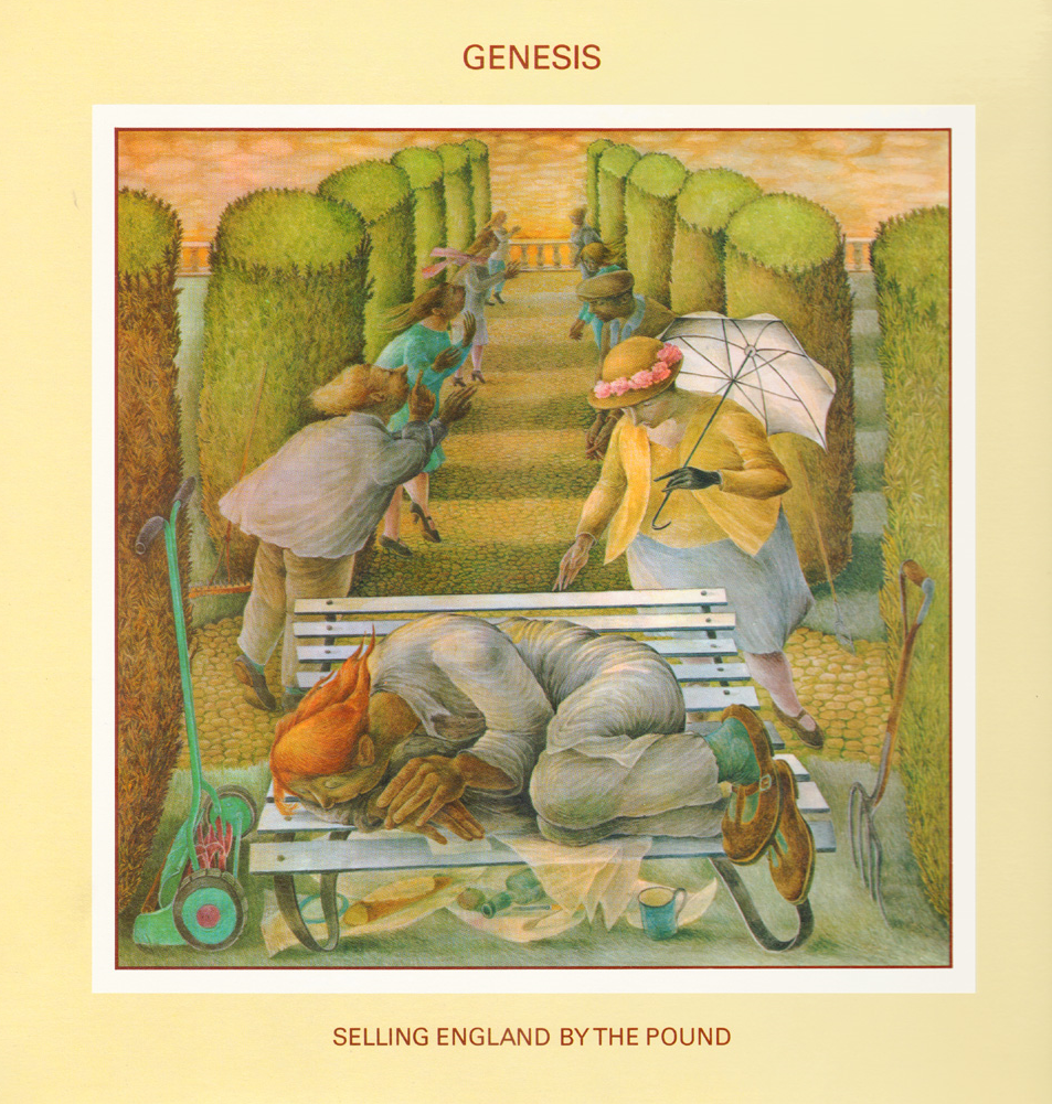"""Swanwick's artwork featured on the 1973 Genesis album """"Selling England by the Pound"""" is representative of her later style."""