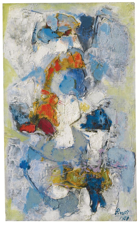 Renato Birolli, Materia e spazio,1958