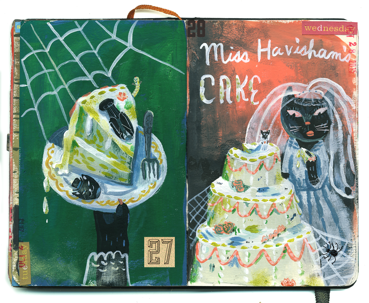 Days 27 & 28: Miss Havisham's cake.