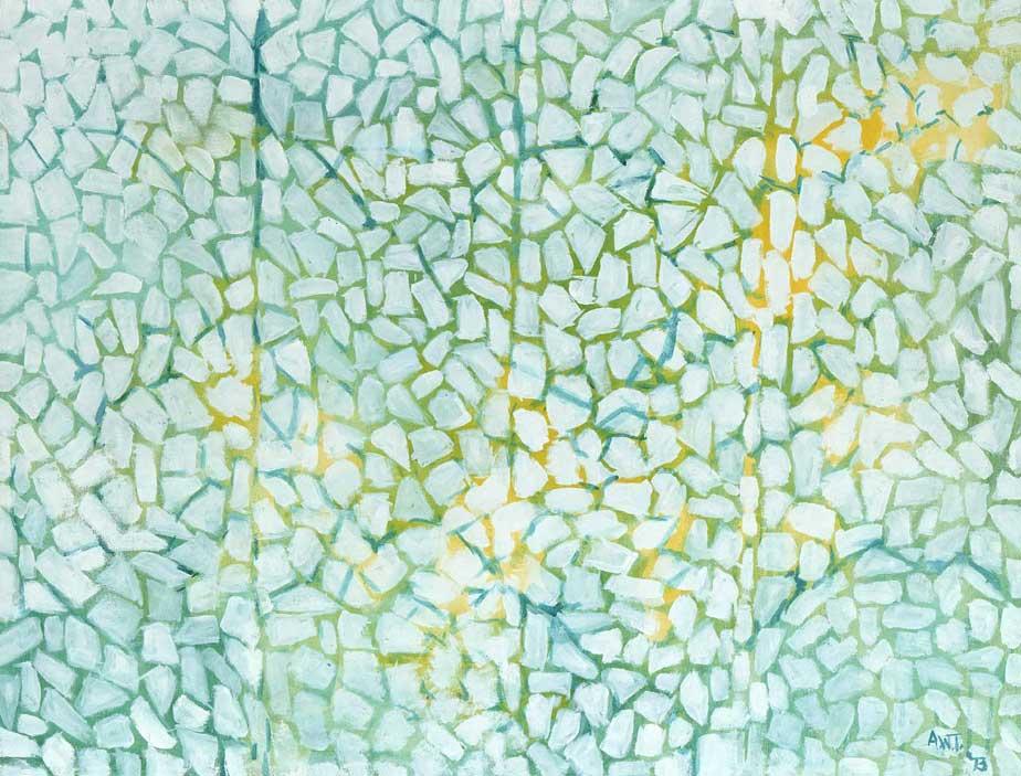 Alma Thomas,White Daisies Rhapsody - 1973