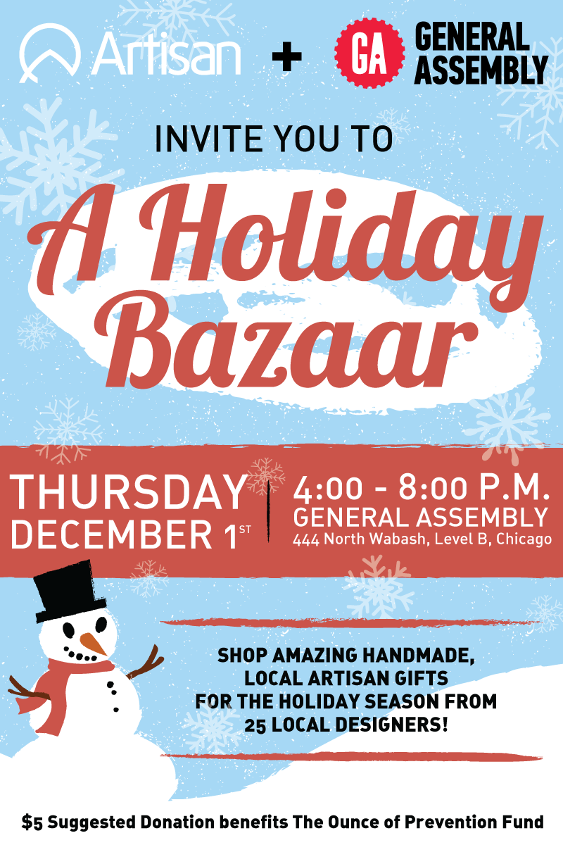 Artisan Holiday Bazaar 2016