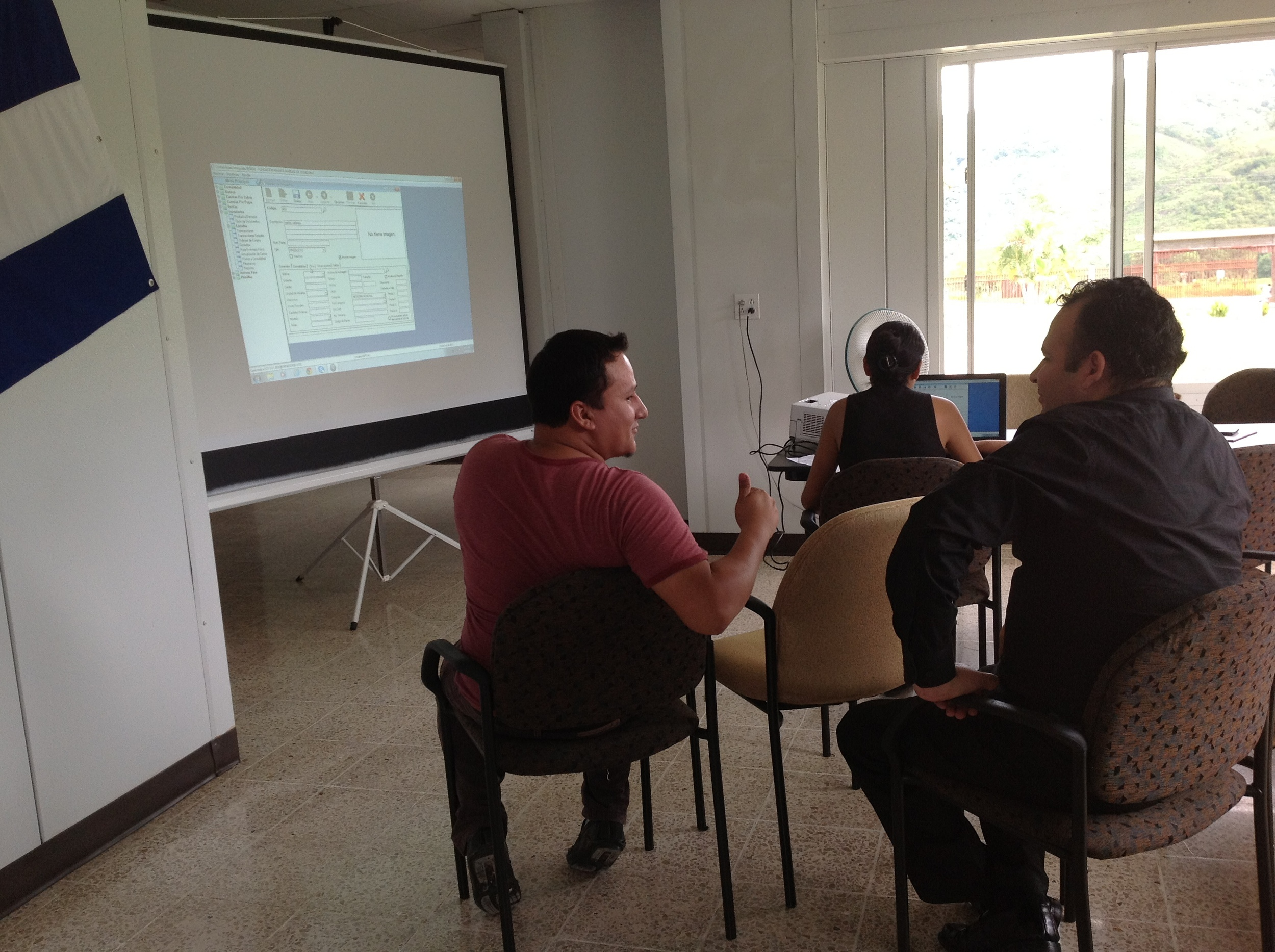 Manos Amigas purchased new computers for the clinic to increase efficiency of the clinic's operation. The staff is being trained on newly installed software for financial accounting and inventory control of supplies and medications.