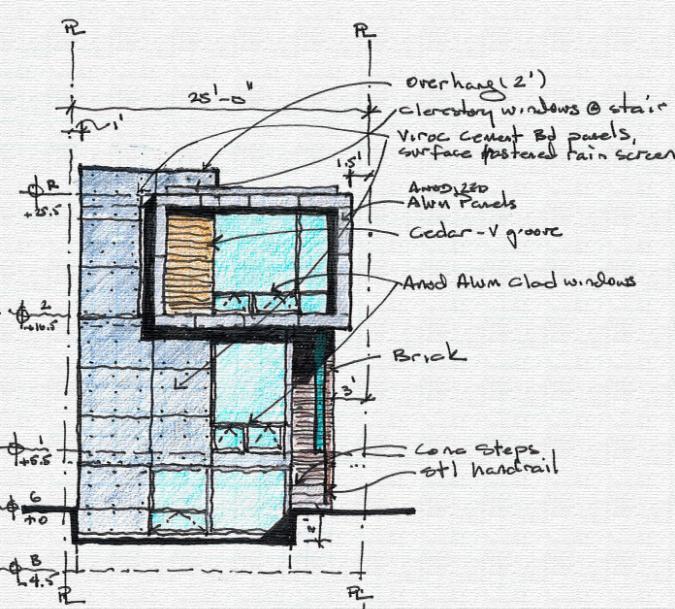 Rosc02 - Street Elevation sketch