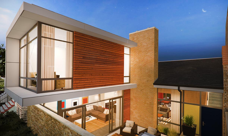 Persicope House - Forecourt, Master, Family Room, Living Room - NDC 2013