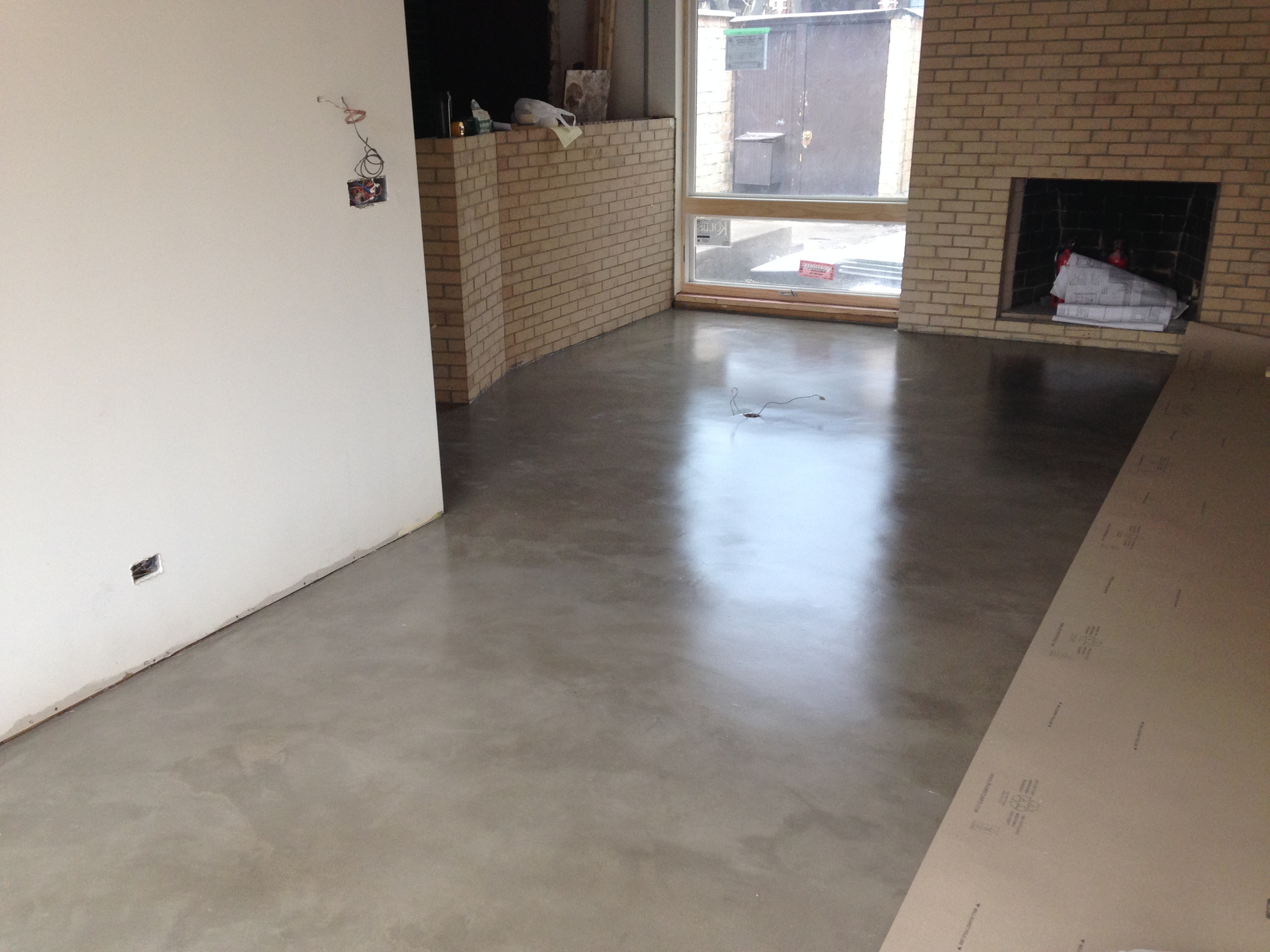 Polished concrete in the Living Room