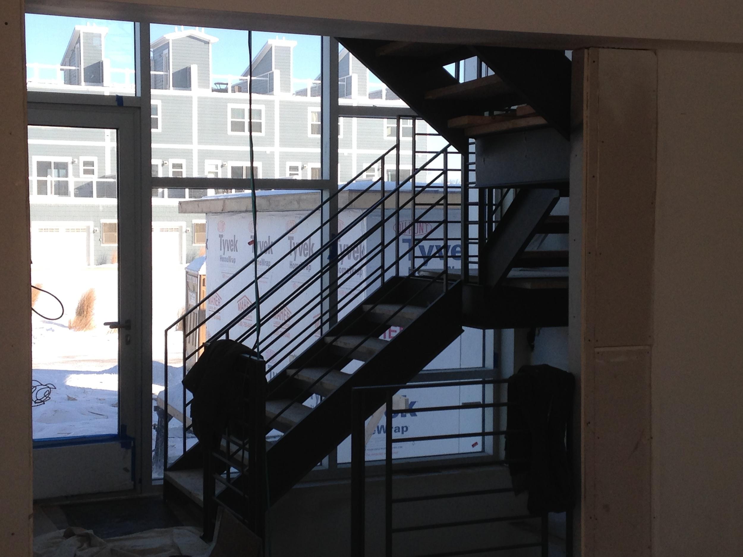 Stair hall entry looking toward street