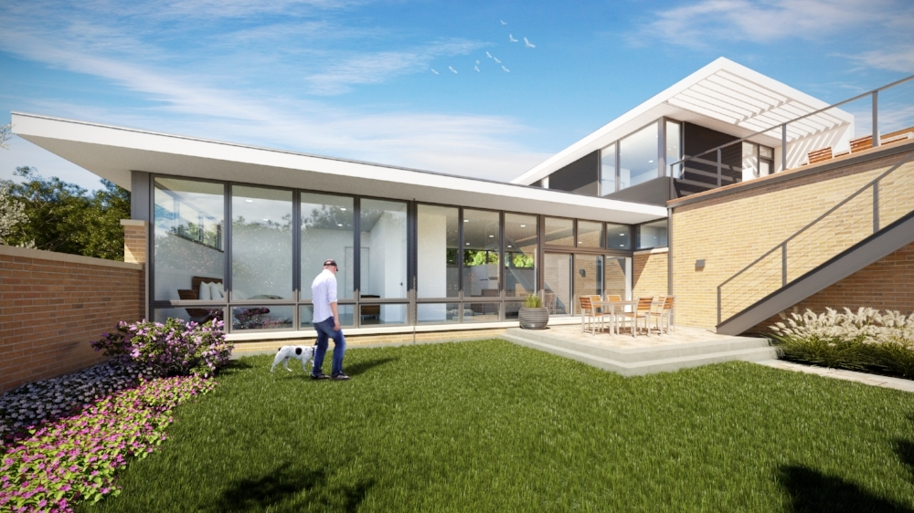 HP Modern - Private courtyard garden