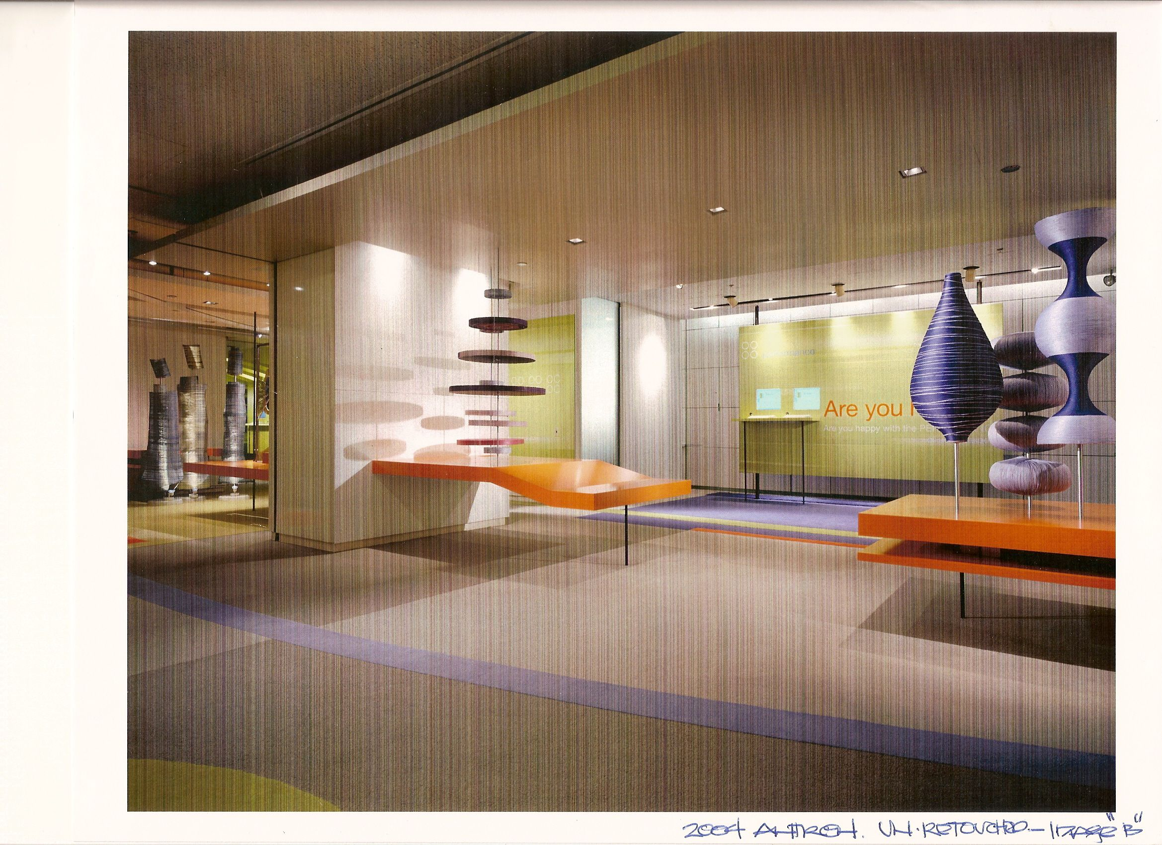 Millwork, graphics, and fiber art production by Ndio.