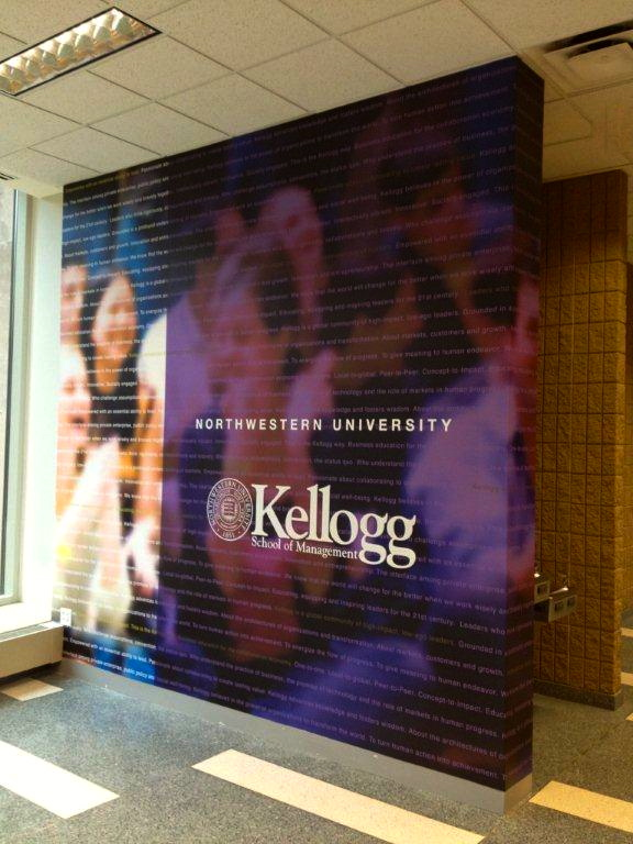 Custom-printed wallcoverings, dimensional graphics, vinyl copy, and installation by Ndio. Design by Perkins+Will.
