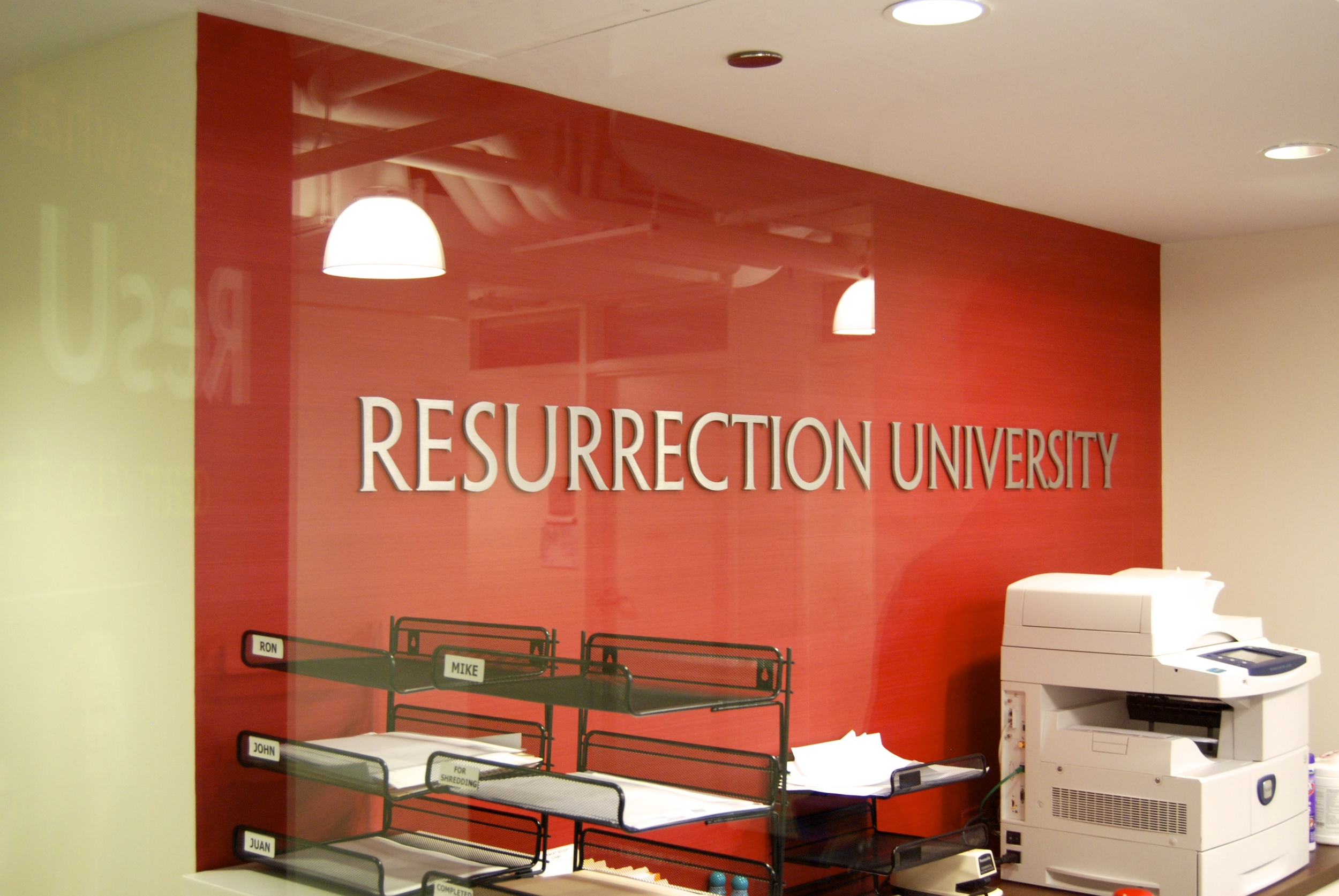Dimensional lettering and installation by Ndio. Design by Perkins+Will.