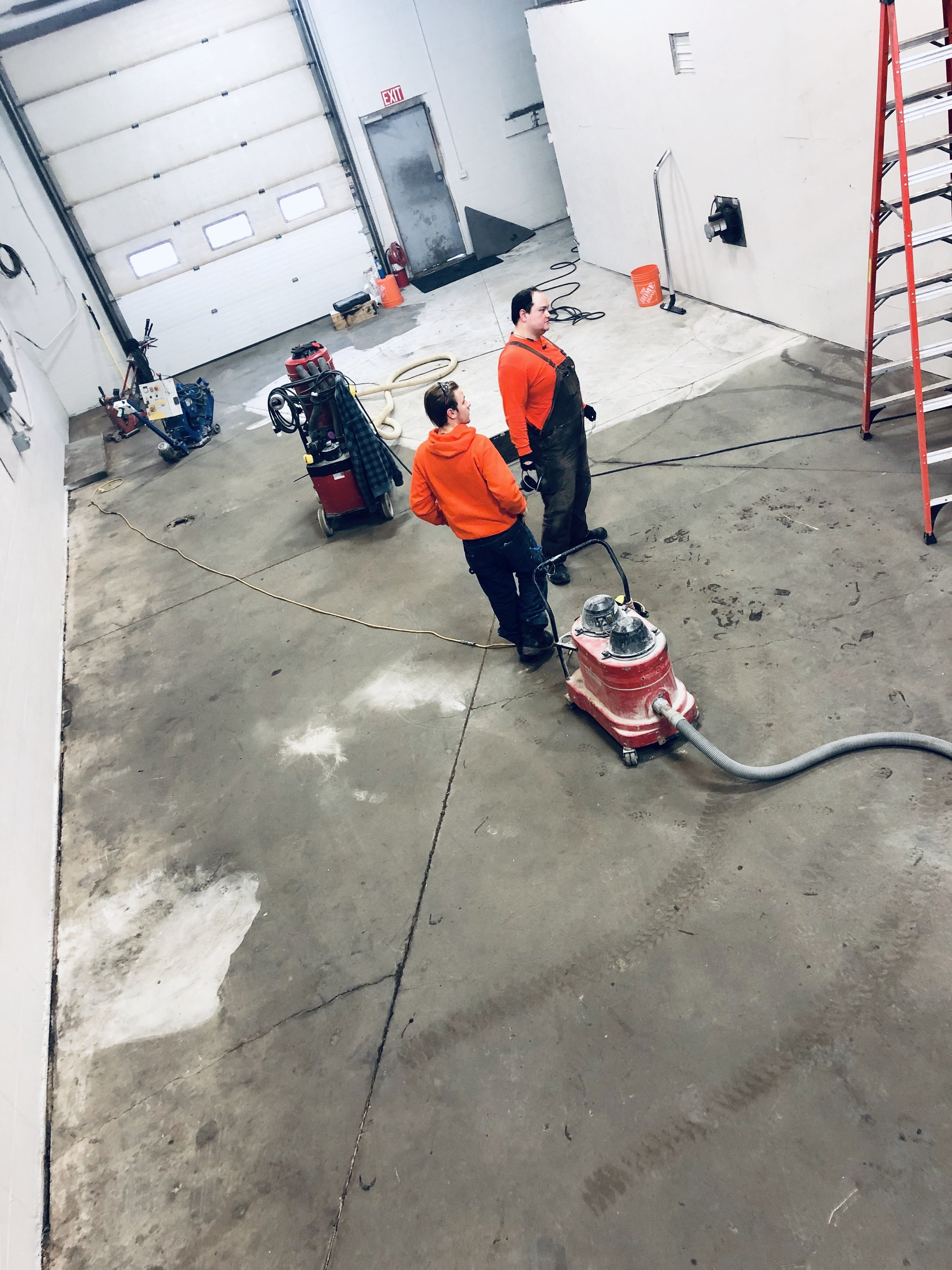 Changing a floor that is hard to clean and not inviting.
