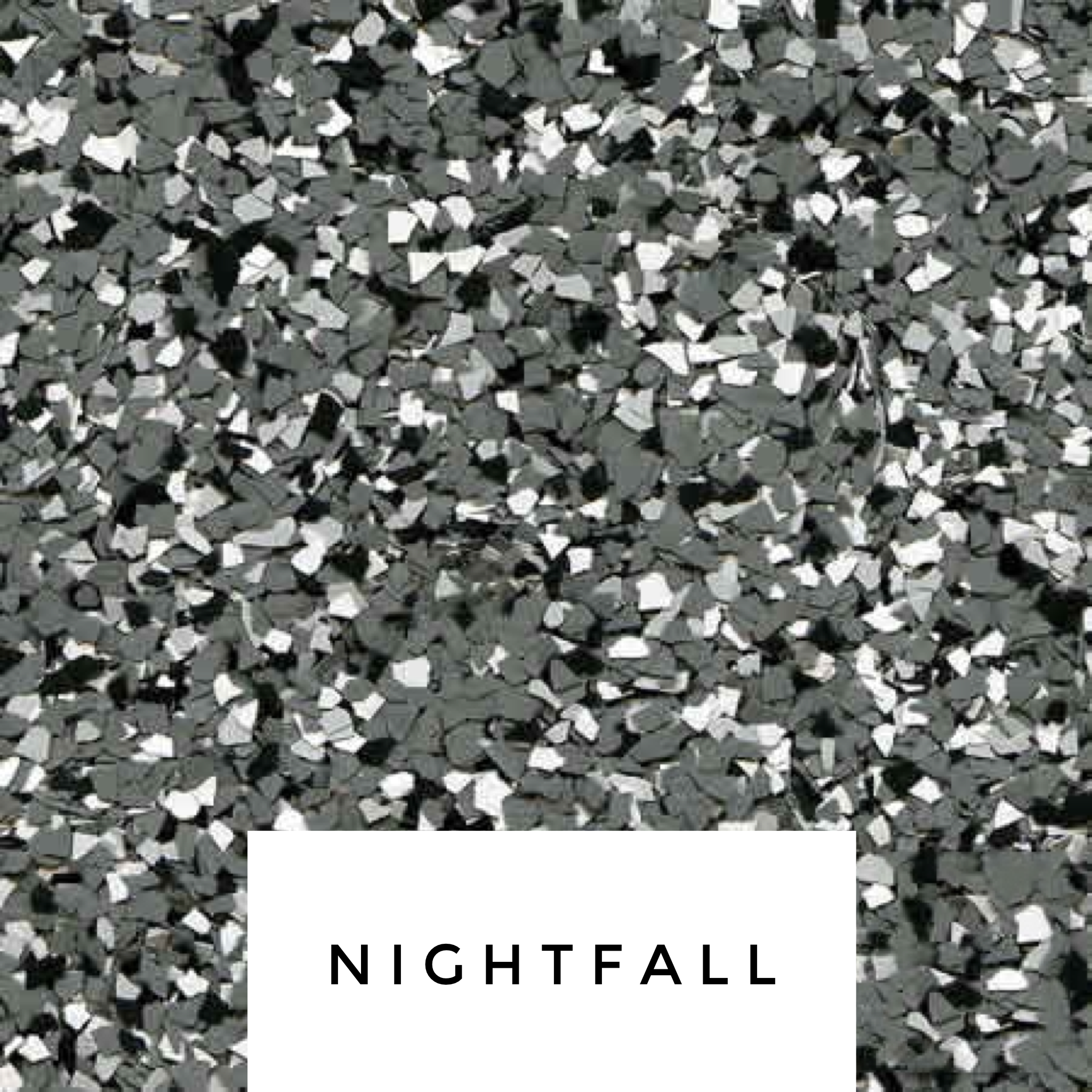 Nightfall Flake Blend - For those that like the darker look.- light grey, medium grays, black