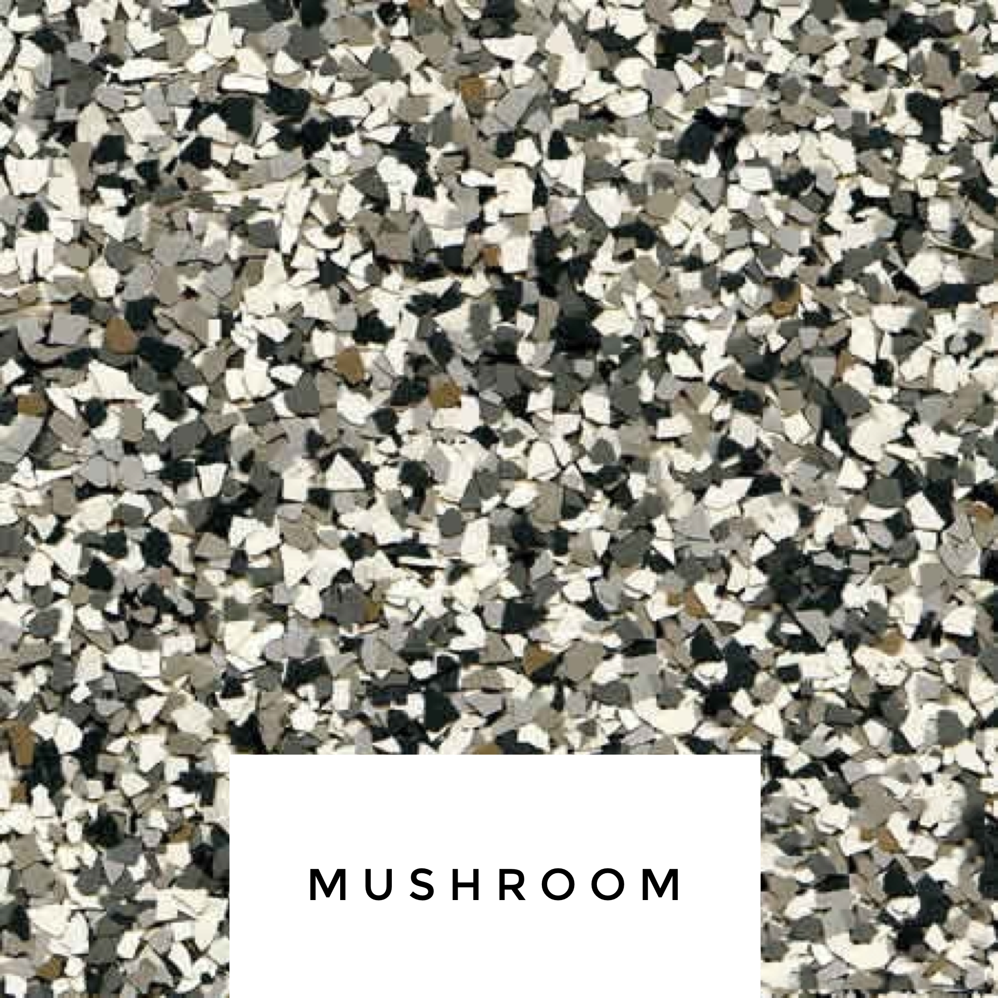 Mushroom Flake Blend - This blend has a great combination of greys and beige.- cream, brown, medium grays and bit of black.