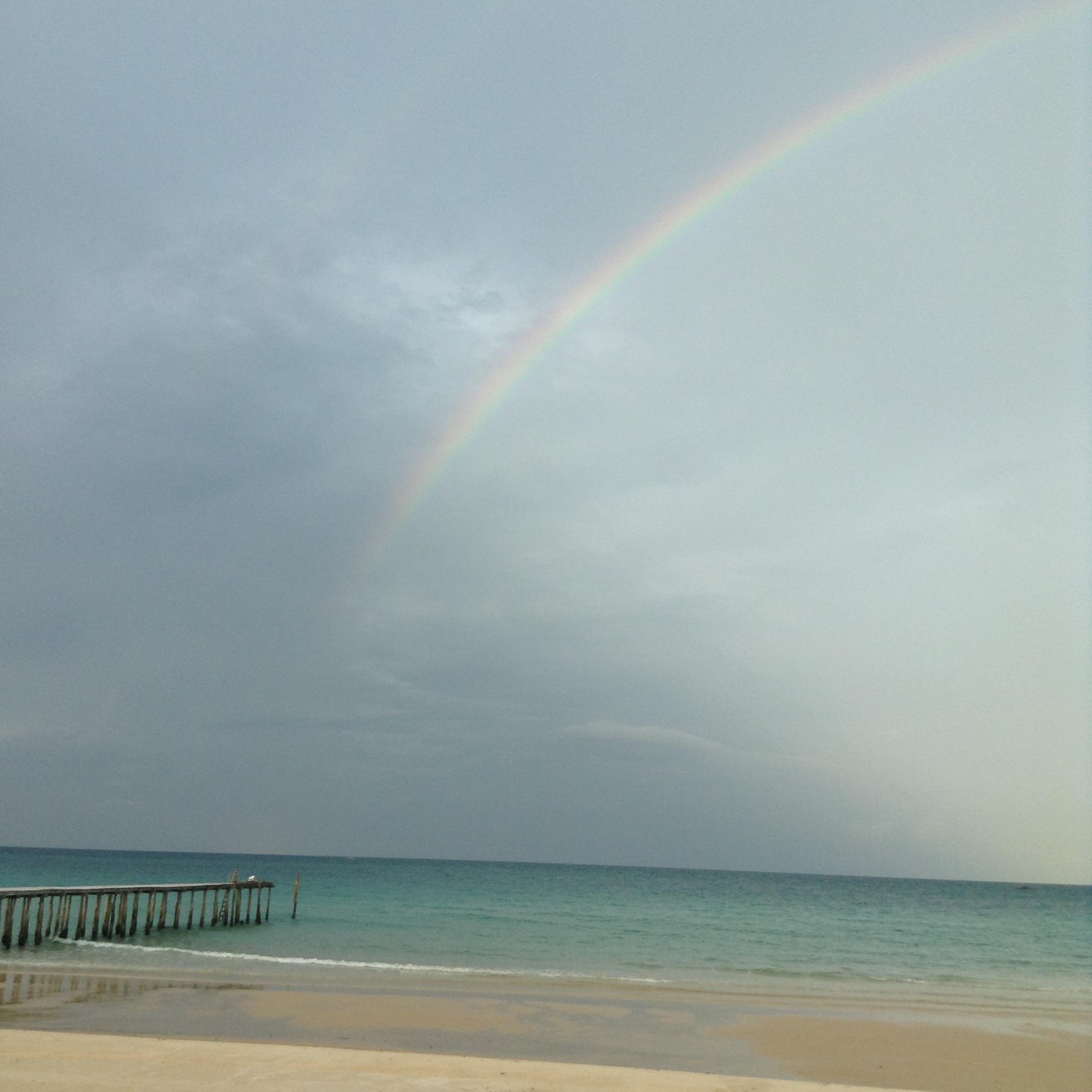 Dockside Rainbow in Koh Rong Samloem, Cambodia
