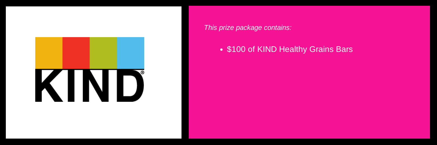 Enter below to win the prize packaged listed above. Retail value $100. This package will be awarded on August 22.