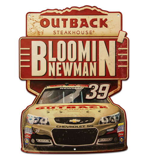 Ryan Newman metal sign