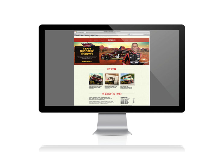 Outback Steakhouse Racing Homepage