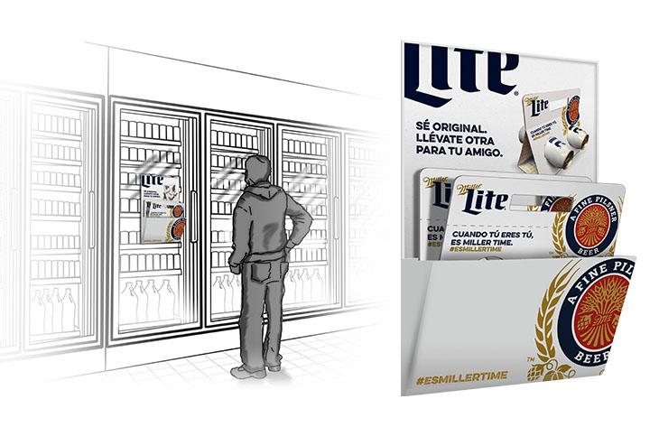 Cooler Door Pack Dispenser Option 1