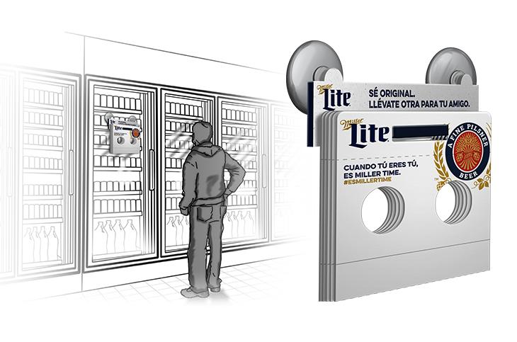 Cooler Door Pack Dispenser Option 2