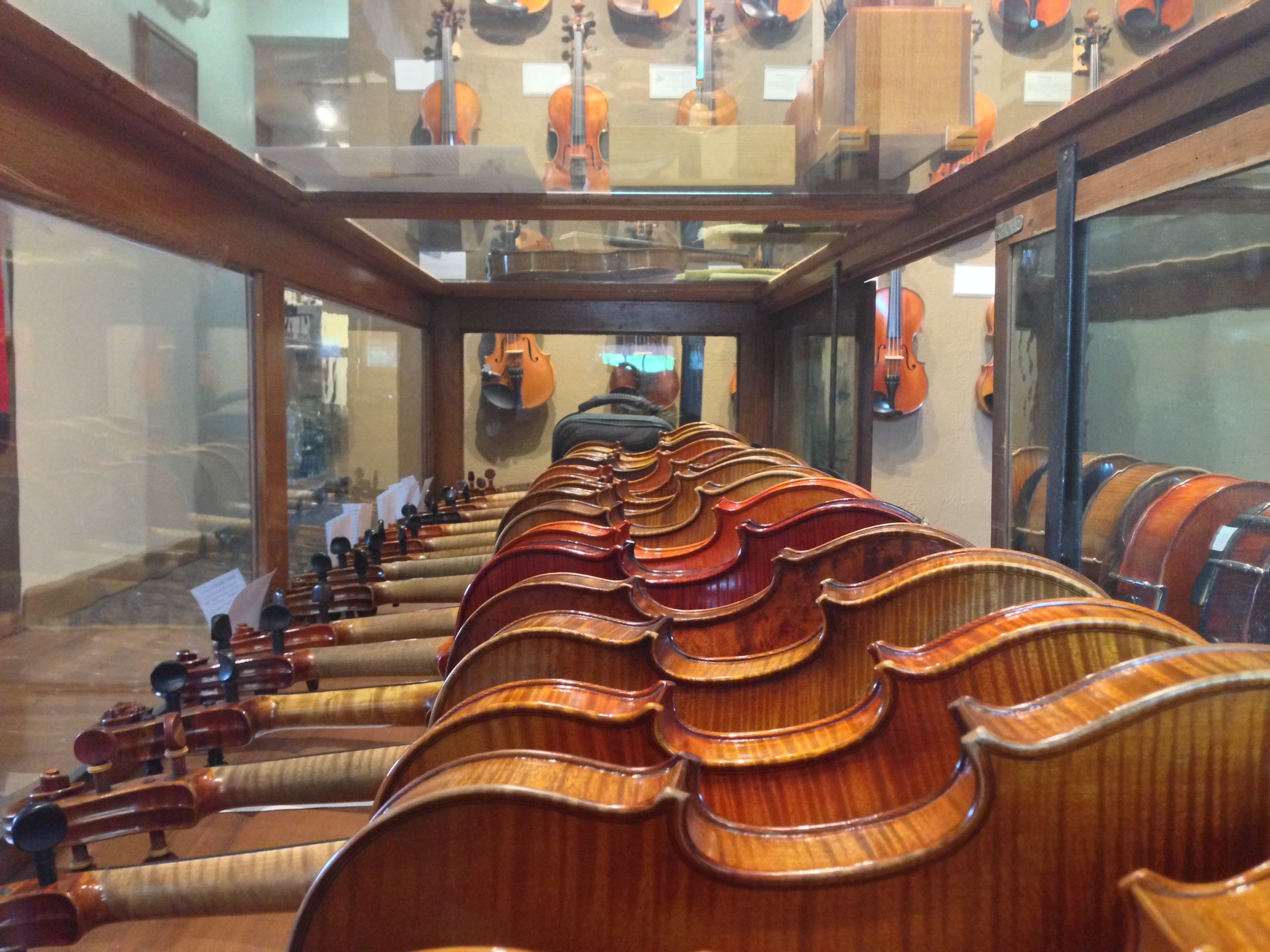 A portion of our Antique & Step-up Violins