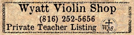 wyatt violin shop private teacher listing