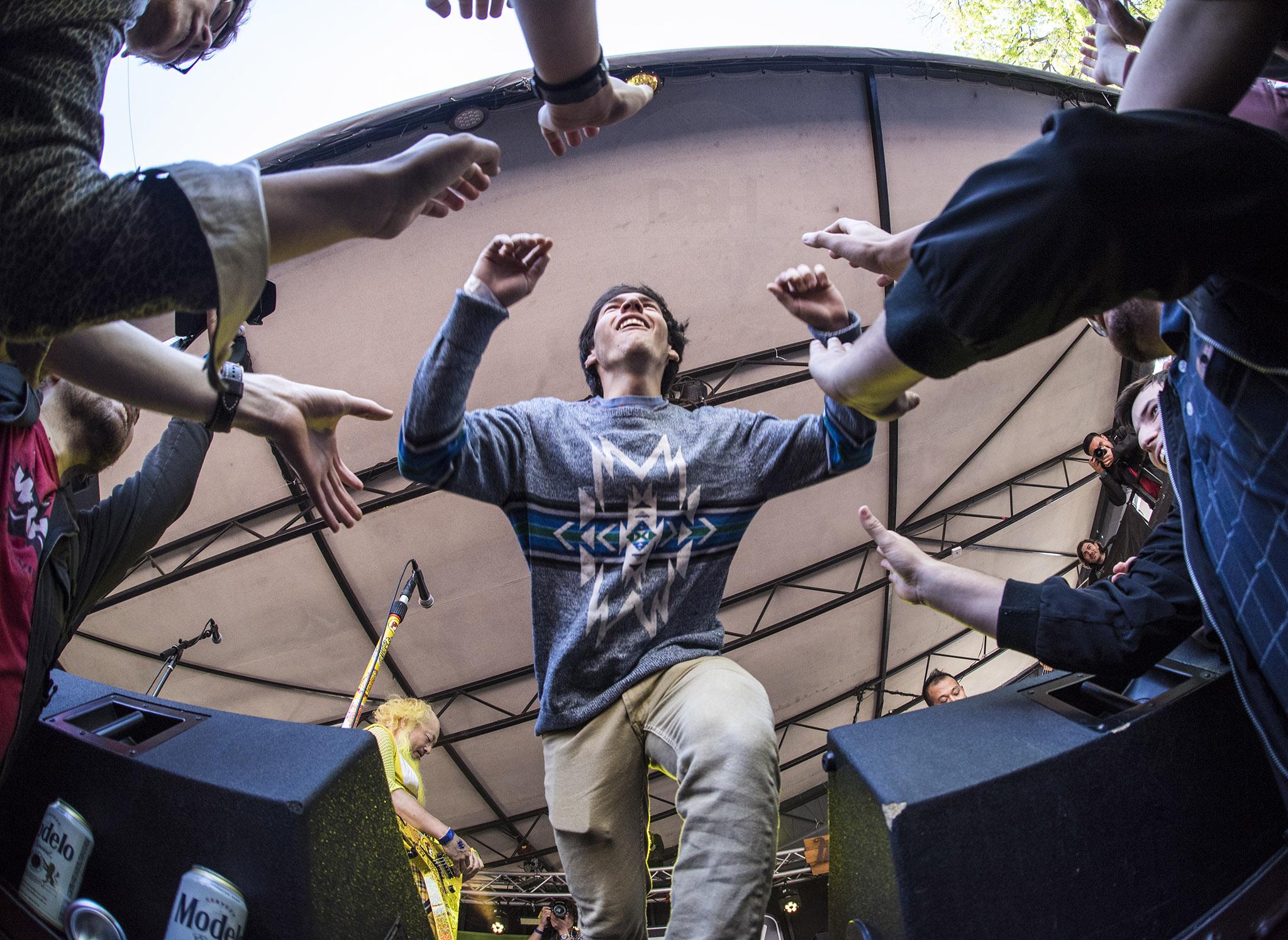 stage-diver at Peelander-Z
