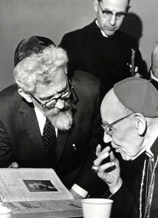 Rabbi Heschel and Cardinal Bea at the Vatican.