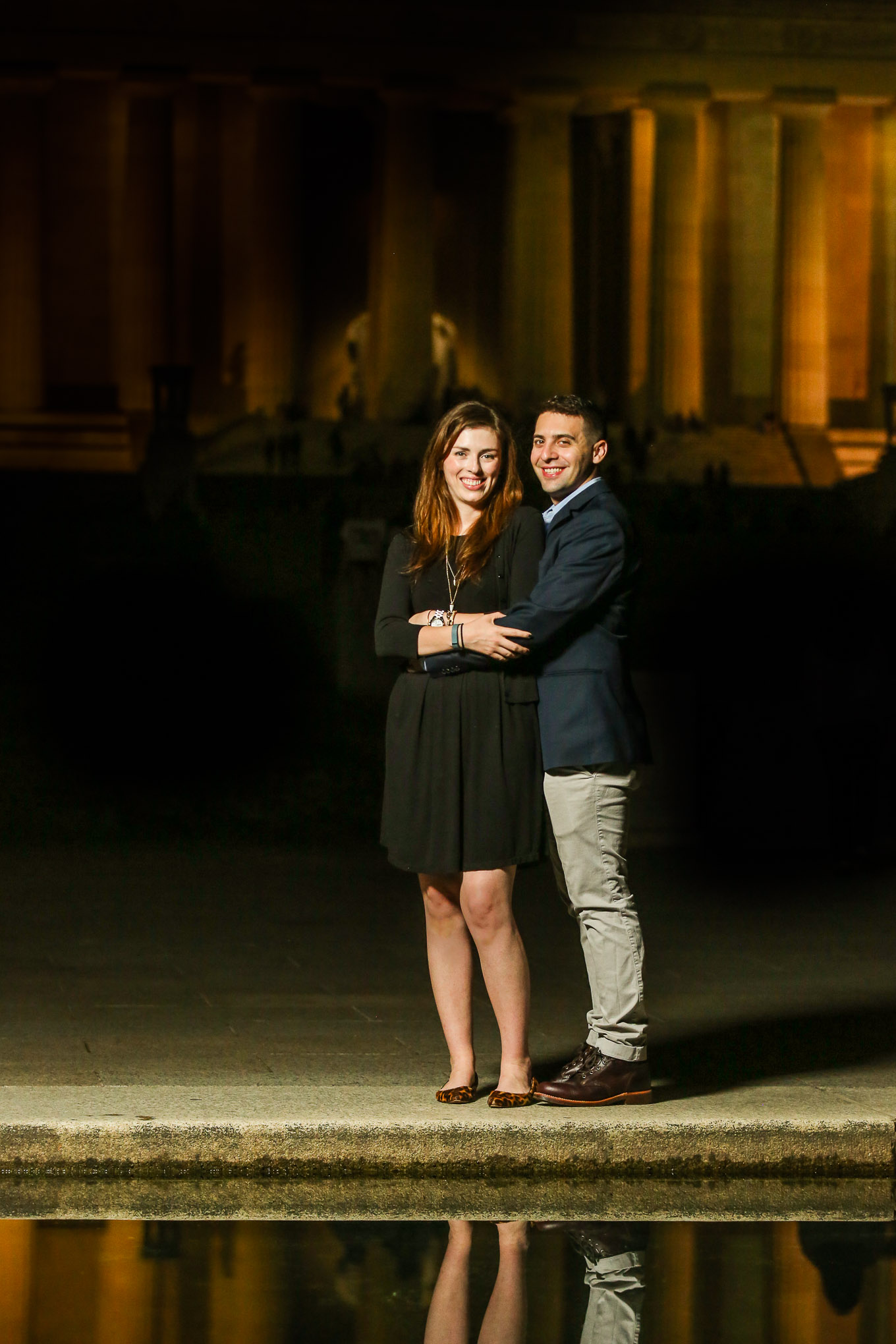 lincoln-memorial-night-engagement-session