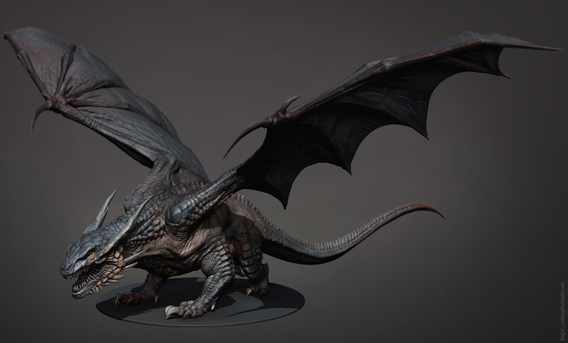 Dragon Model for Eden FX - Designed, Sculpted and rendered in ZBrush