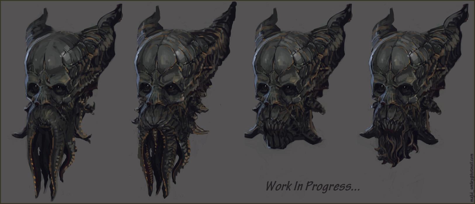 Monster Head 2D Concept