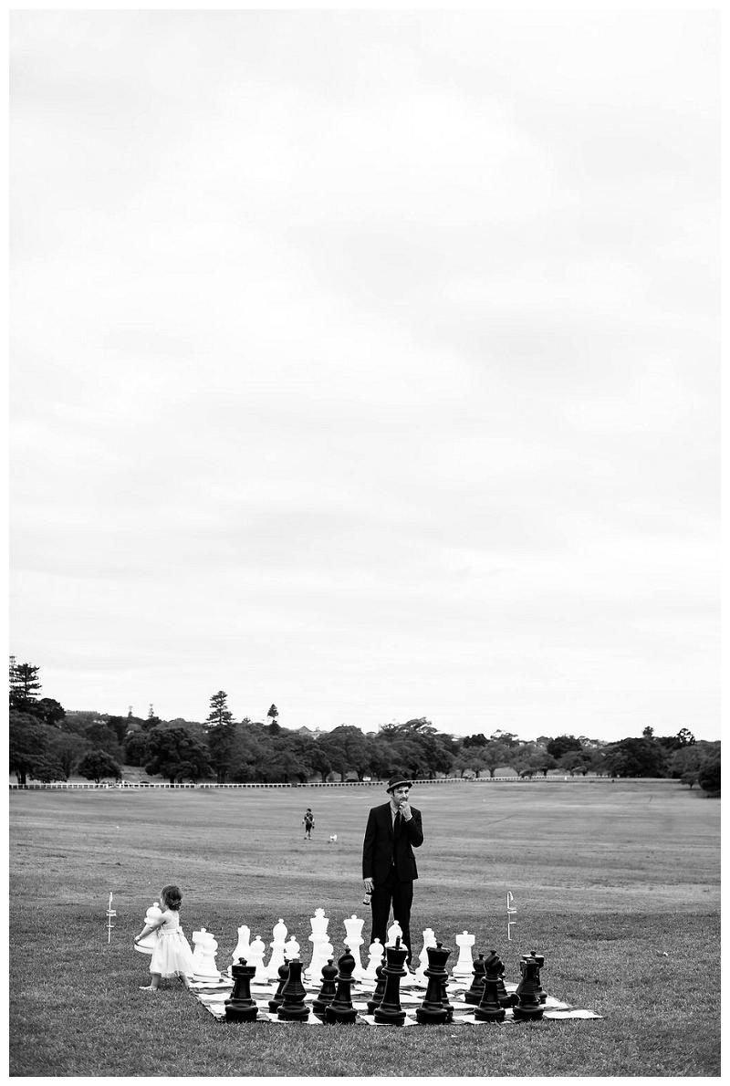 chess game photographer sydney centennial park wedding