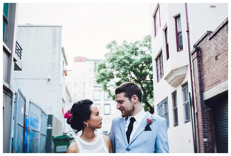 Sydney wedding couple portraits