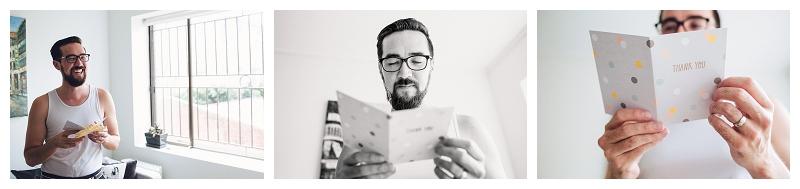 Wedding letter reading
