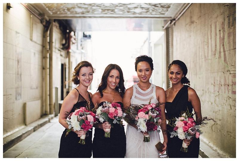 Bride | Bridesmaids | Flowers | Sydney Wedding | Crane Bar