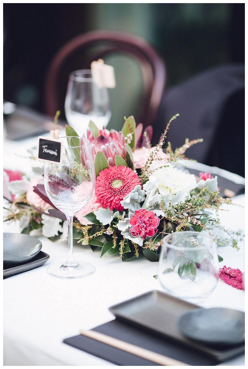 Reception styling | Flowers | Crane Bar, Sydney Wedding