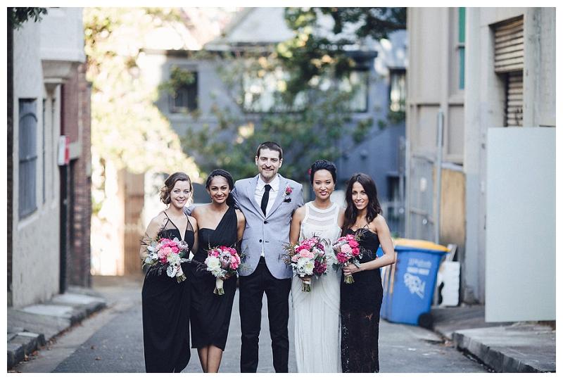 Bridal party | Crane Bar, Sydney Wedding