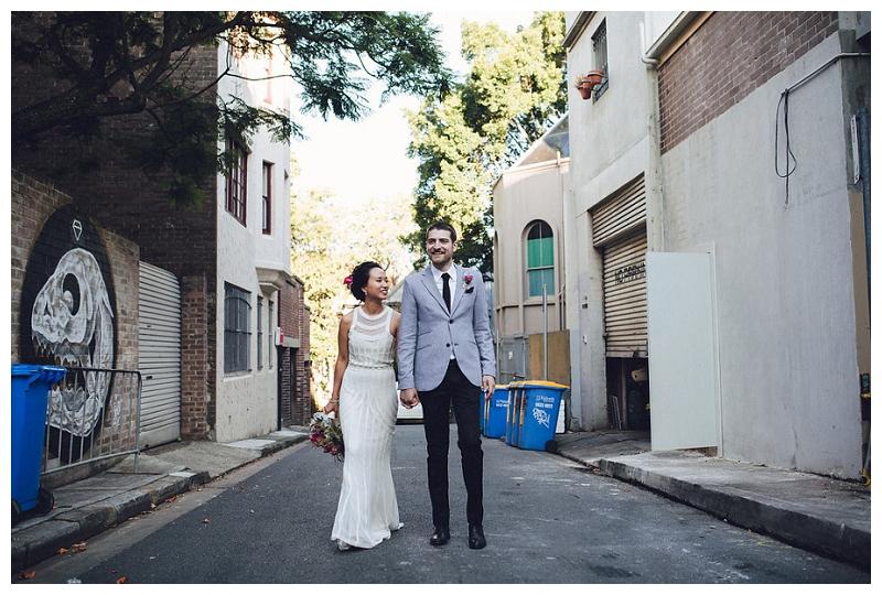 Bride and Groom Portraits | Crane Bar, Sydney Wedding