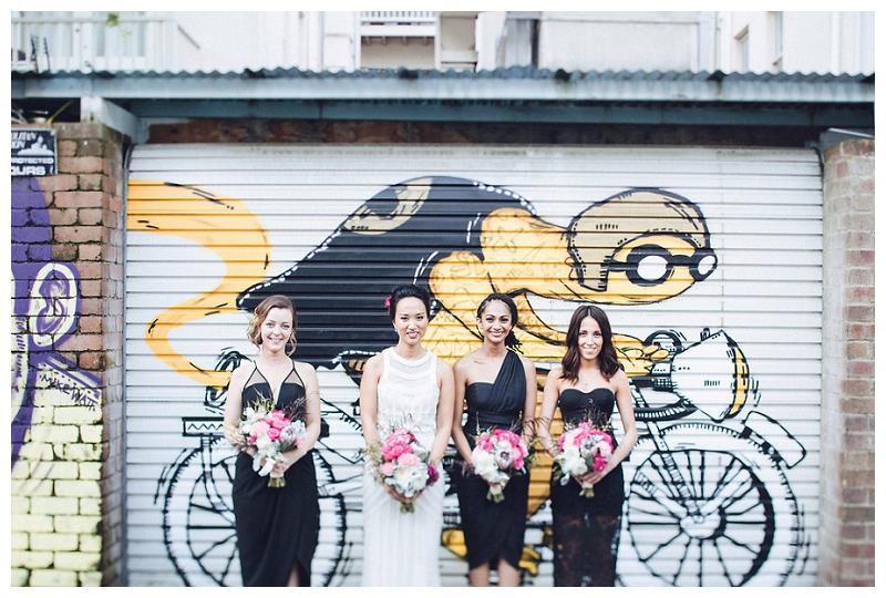 Bride and Bridesmaids | Crane Bar, Sydney Wedding