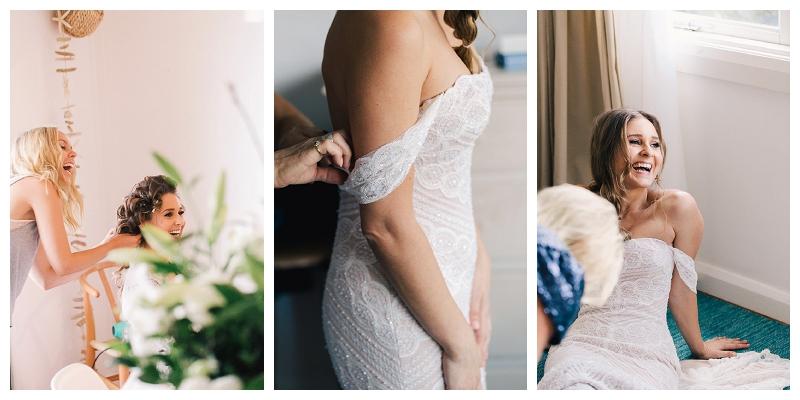 beautiful off shoulder wedding gown