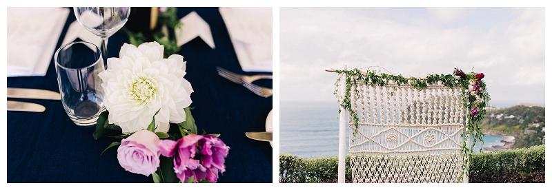 jonah's whale beach wedding ceremony styling flowers sydney