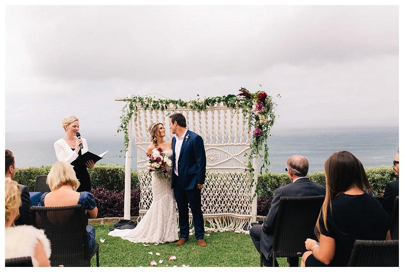 jonah's whale beach wedding ceremony