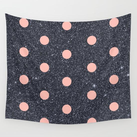 pink spot glitter photo booth backdrop