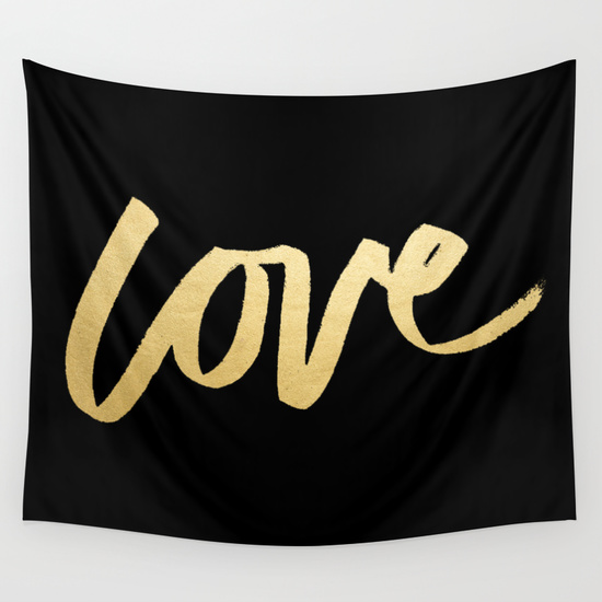 gold love photo booth backdrop