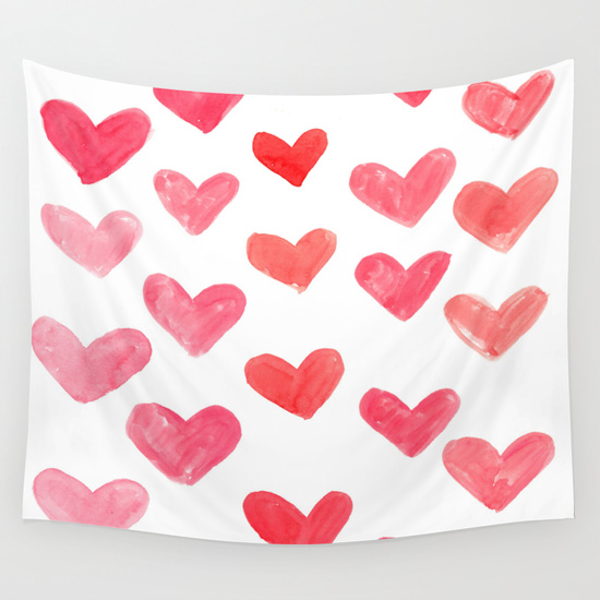 pink hearts photo booth backdrop