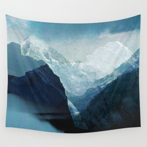 mountain photo booth backdrop