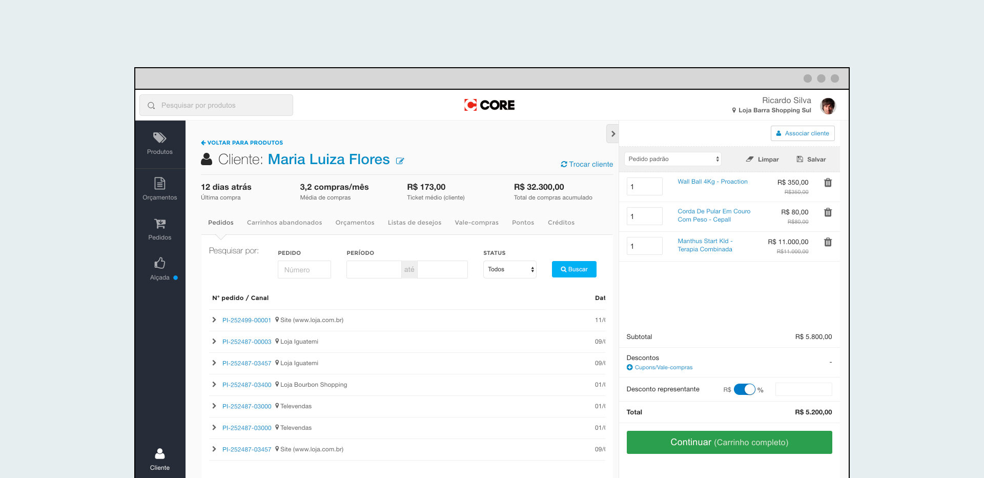 Final product:  a mix of POS and Assisted Sales app.
